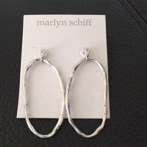 NEW Silver Hoop Earrings by Marlyn Schiff